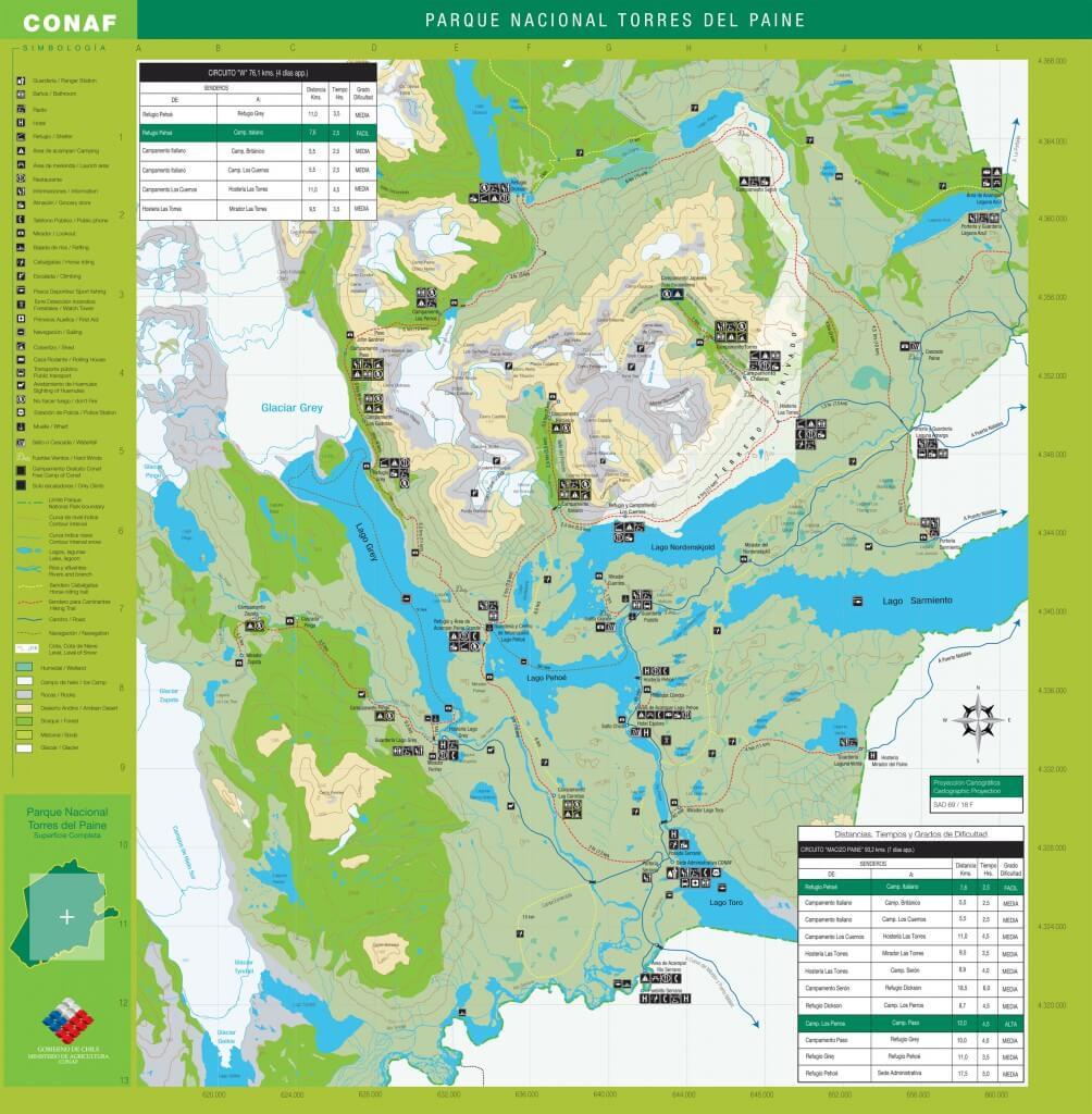 Reisetipps Patagonien: torres-del-paine-nationalpark-karte