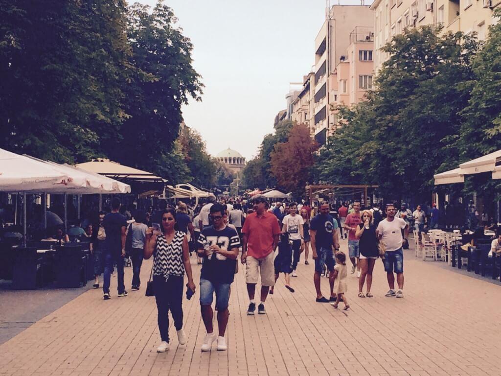 Reisetipp Sofia: Boulevard Vitosha am Sonntag