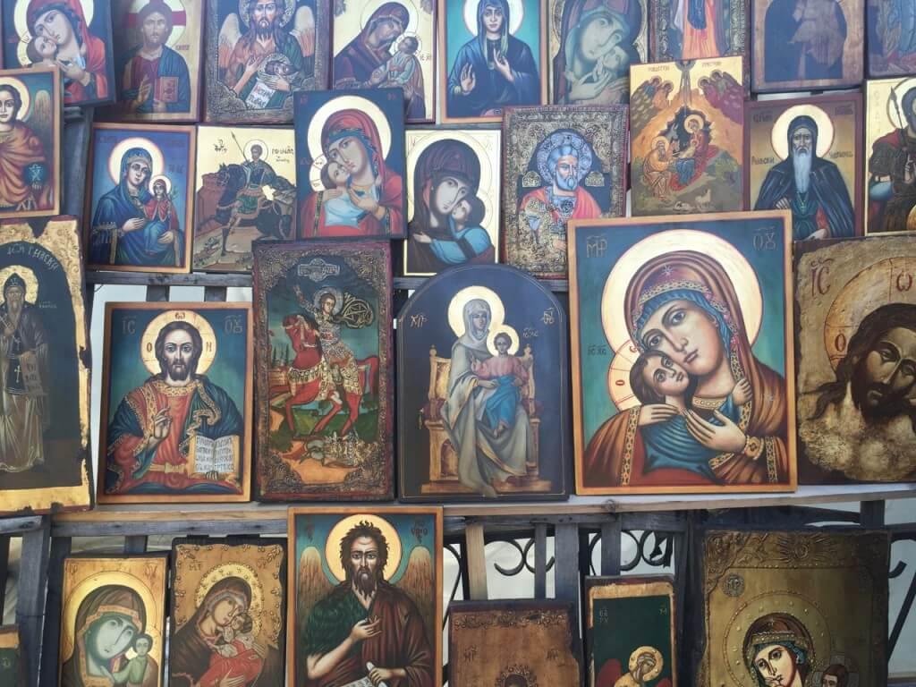 Reisetipp Sofia: Ikonenbilder - Flohmarkt bei Alexander-Newski-Kathedrale