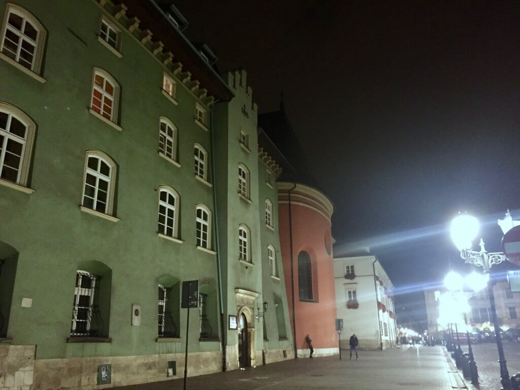 Reisetipps Krakau: Altstadt bei Nacht