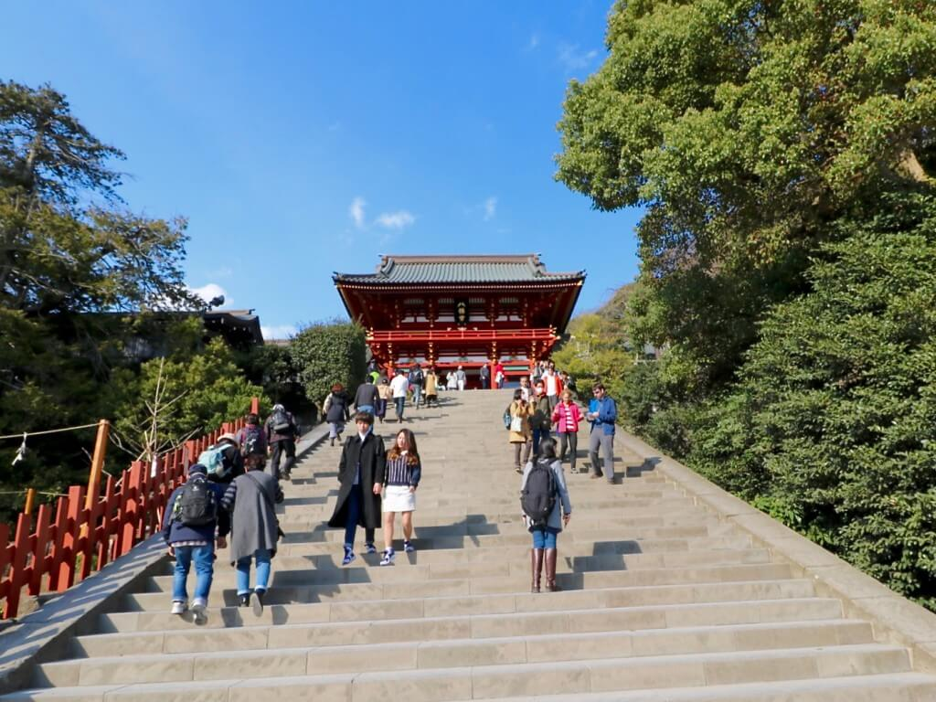 Tokio Tipps: Kamakura - Treppe zum Tsurugaoka Hachiman-gū Schrein