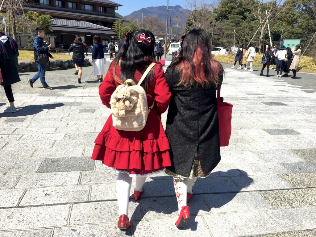 Fakten über Japan: Manga-Mädchen in Kyoto