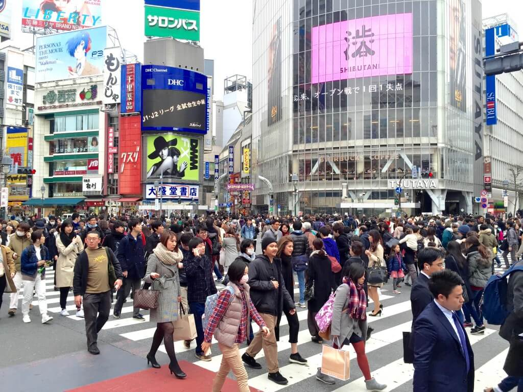 Japanischer Lifestyle: Shibuya Crossing in Tokio