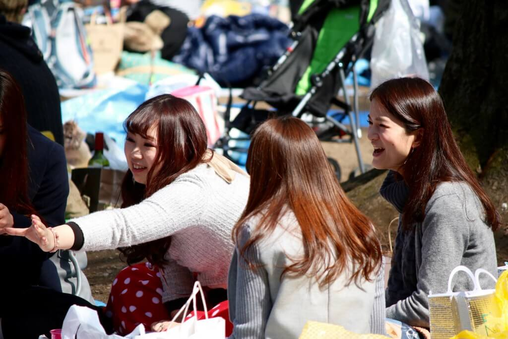 Japanreise: Picknicker im Inokashira-Park, Tokio