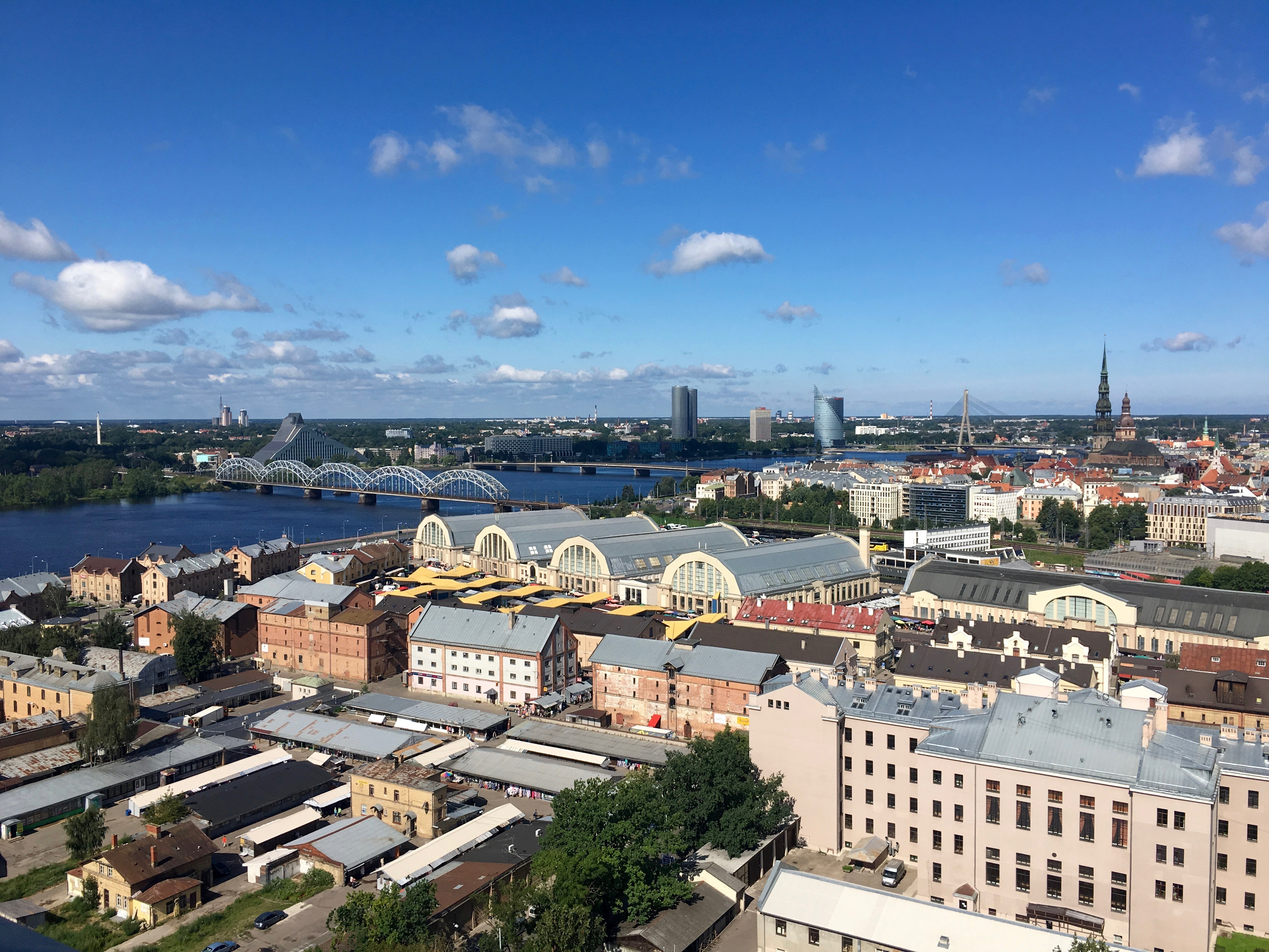 Reisetipps Riga: Blick auf den Zentralmarkt