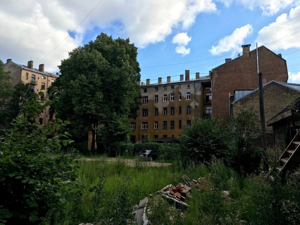 Reisetipp Riga: Hinterhof in der Miera iela