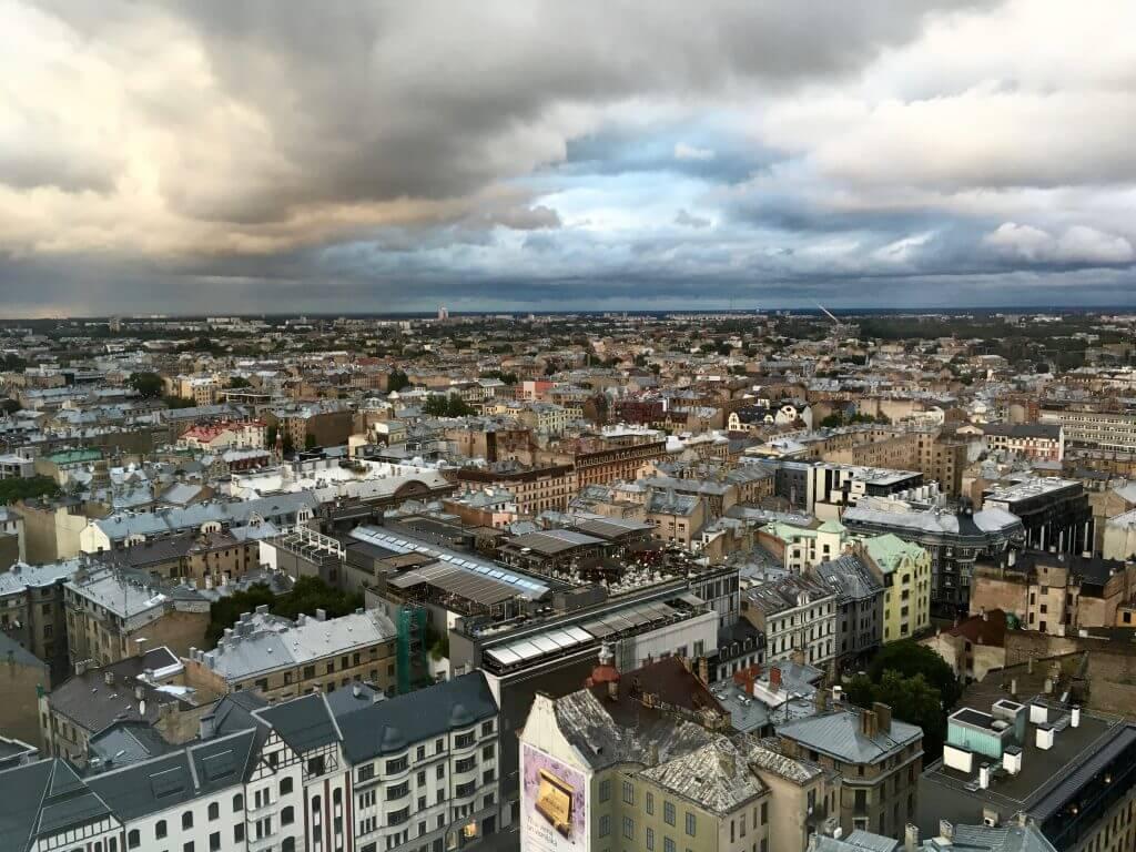 Reisetipps Riga: Blick von der Skylinebar