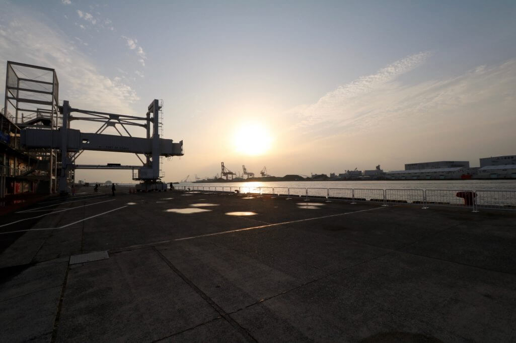 Reisebericht Osaka: Tempozan-Hafen bei Sonnenuntergang