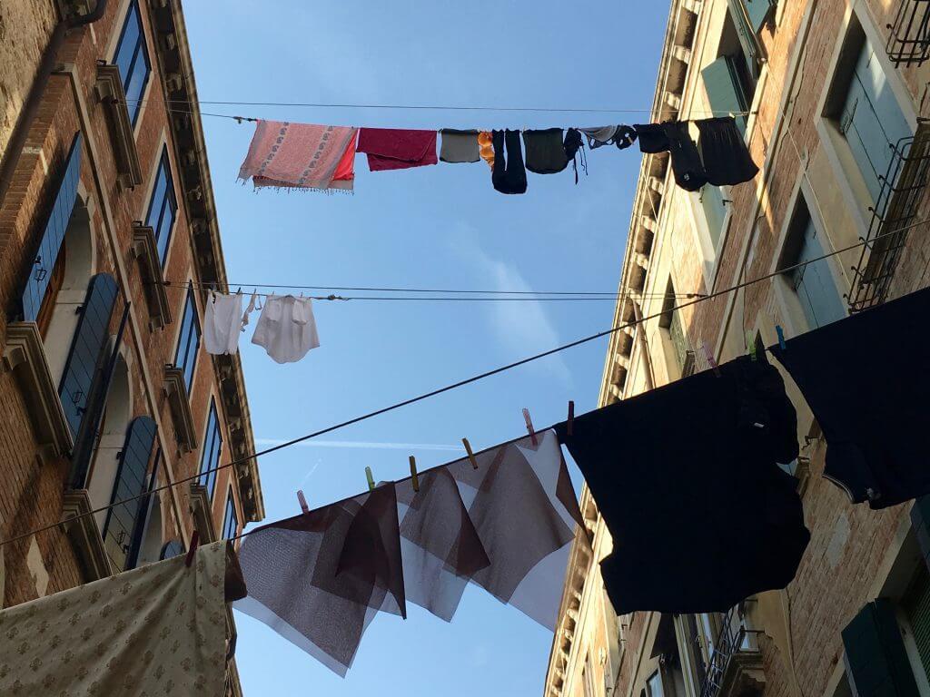 Reisetipp Venedig: Wäscheleinen im Stadtteil Dorsoduro