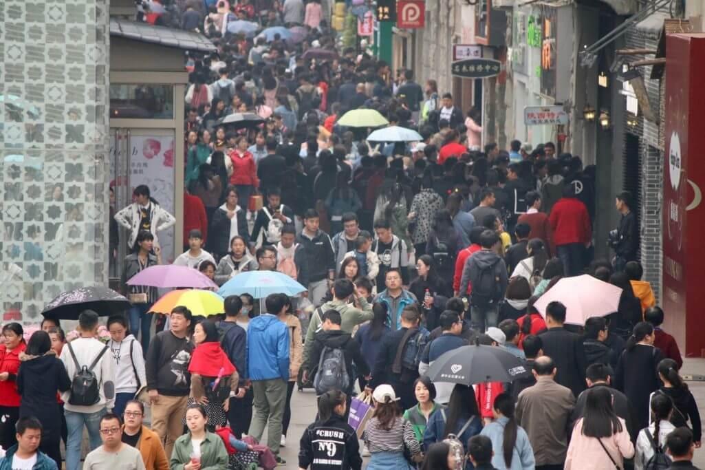Erkenntnisse über China: Einkaufsstraße in Xi'an