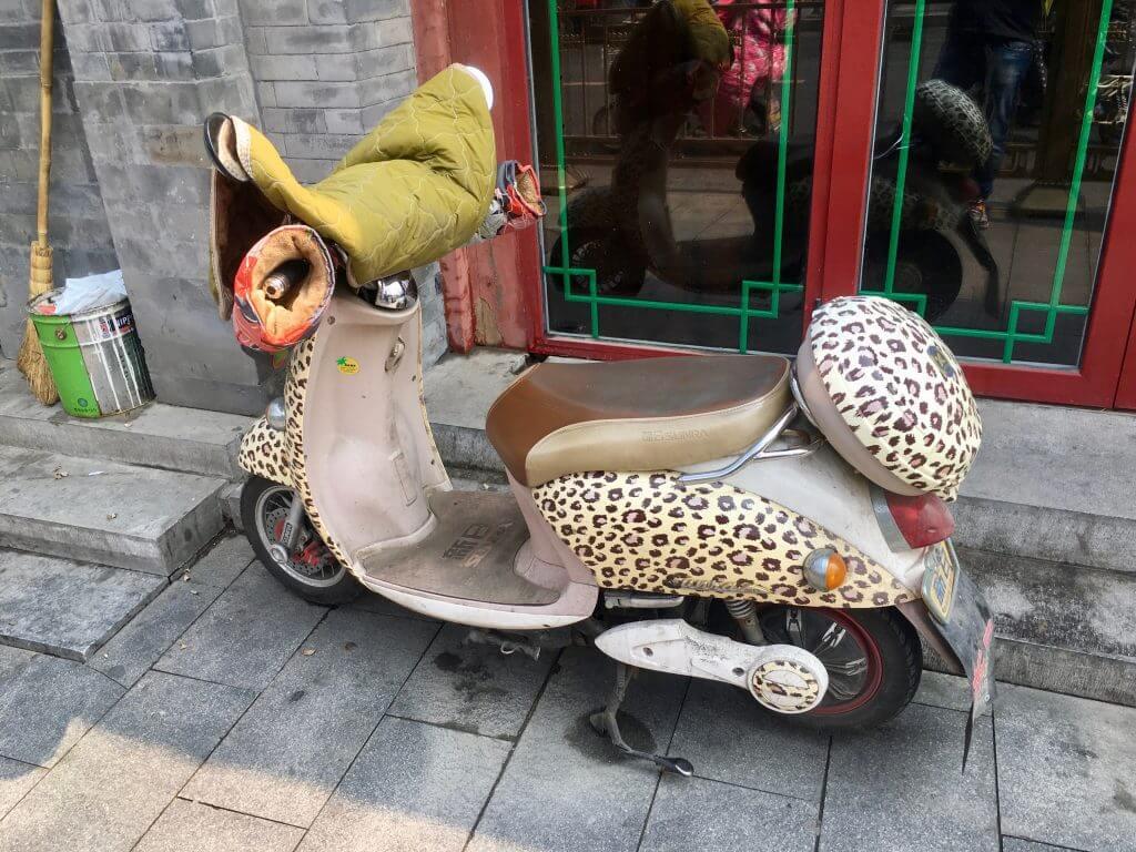 Eindrücke von Peking - Roller im Leopardendesign