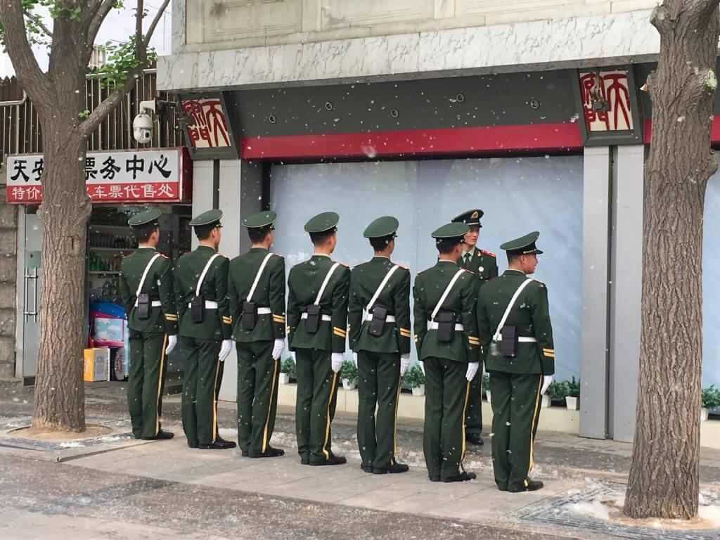 Eindrücke von Peking - Polizeipräsenz