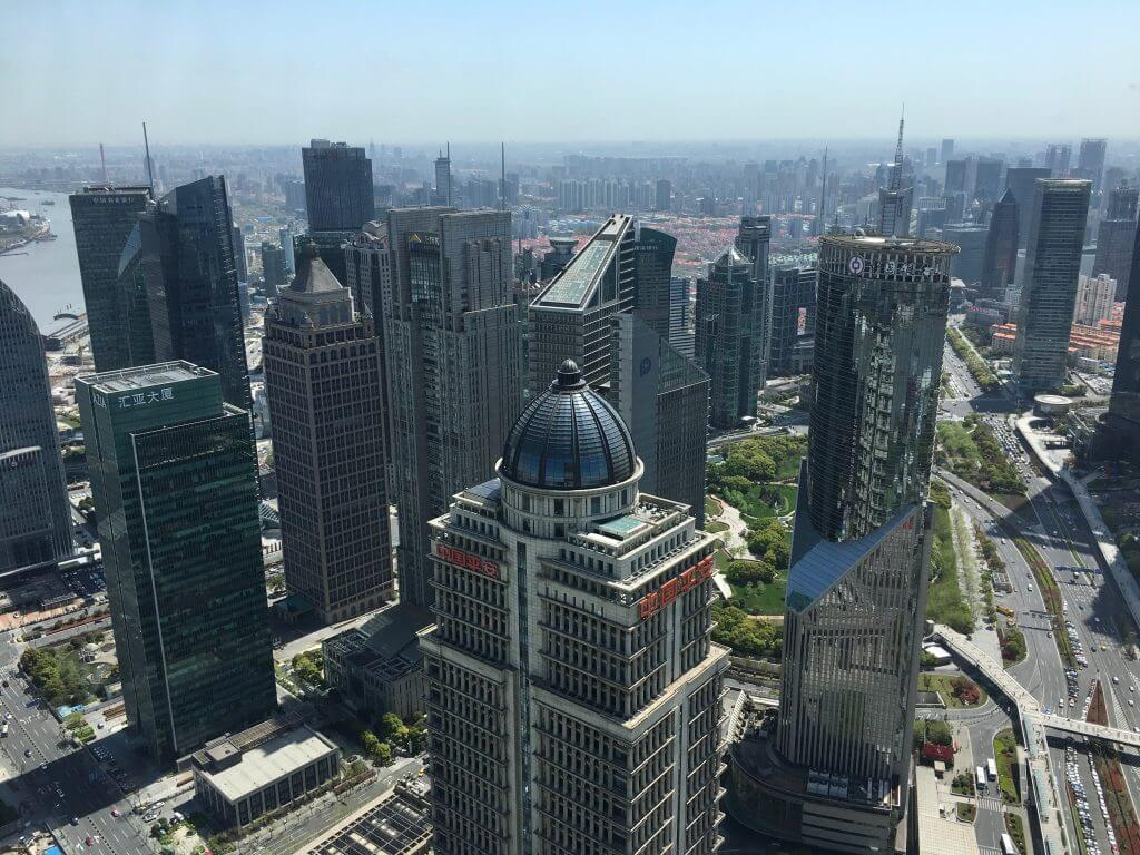 Blick vom Oriental Pearl Tower