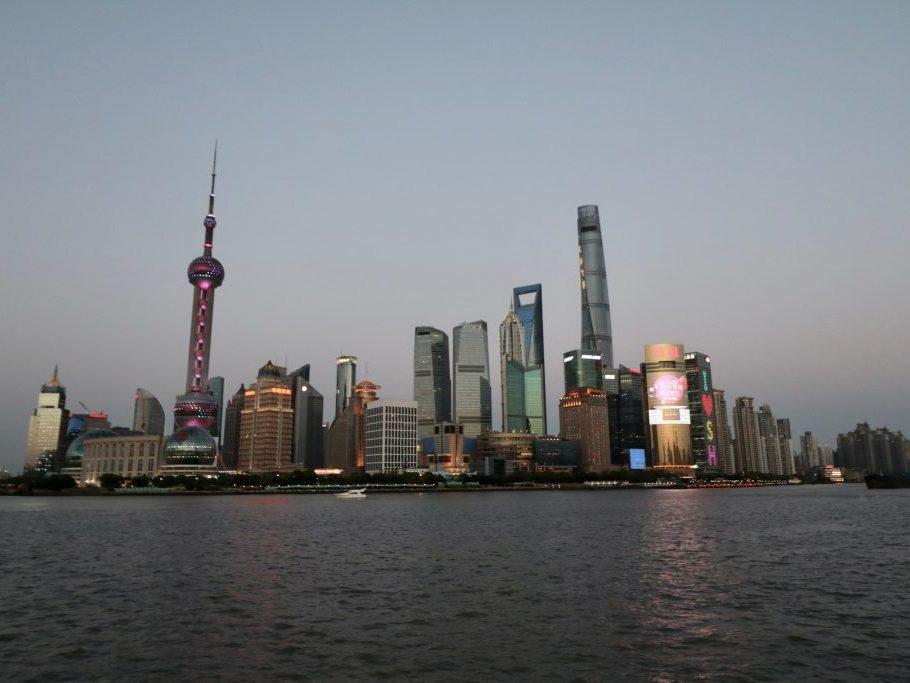 Reisetipps Shanghai: Blick auf Pudong am Abend