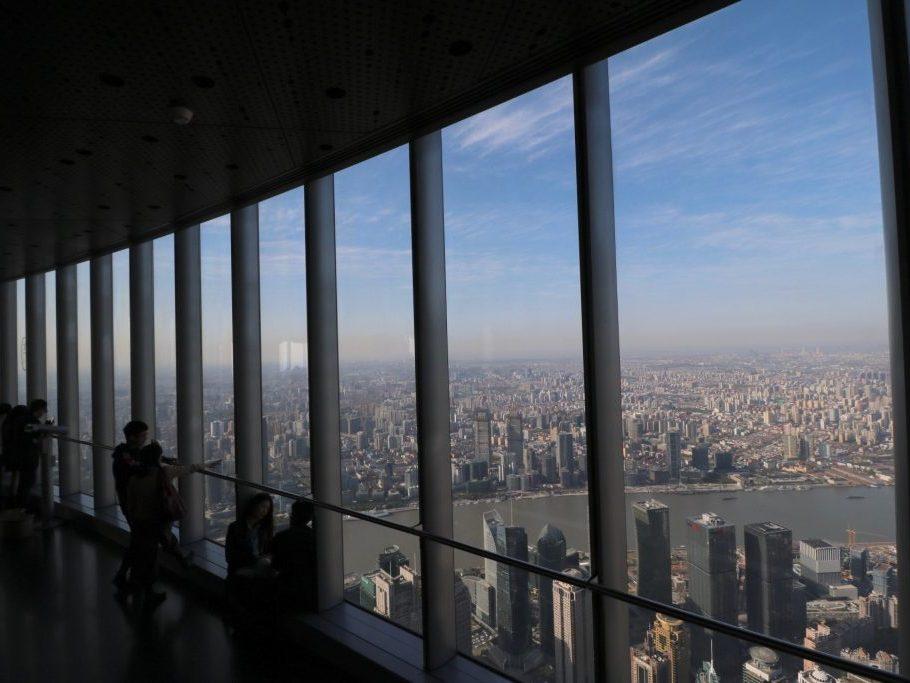 Sightseeing Tipps Shanghai: Blick vom Shanghai Tower