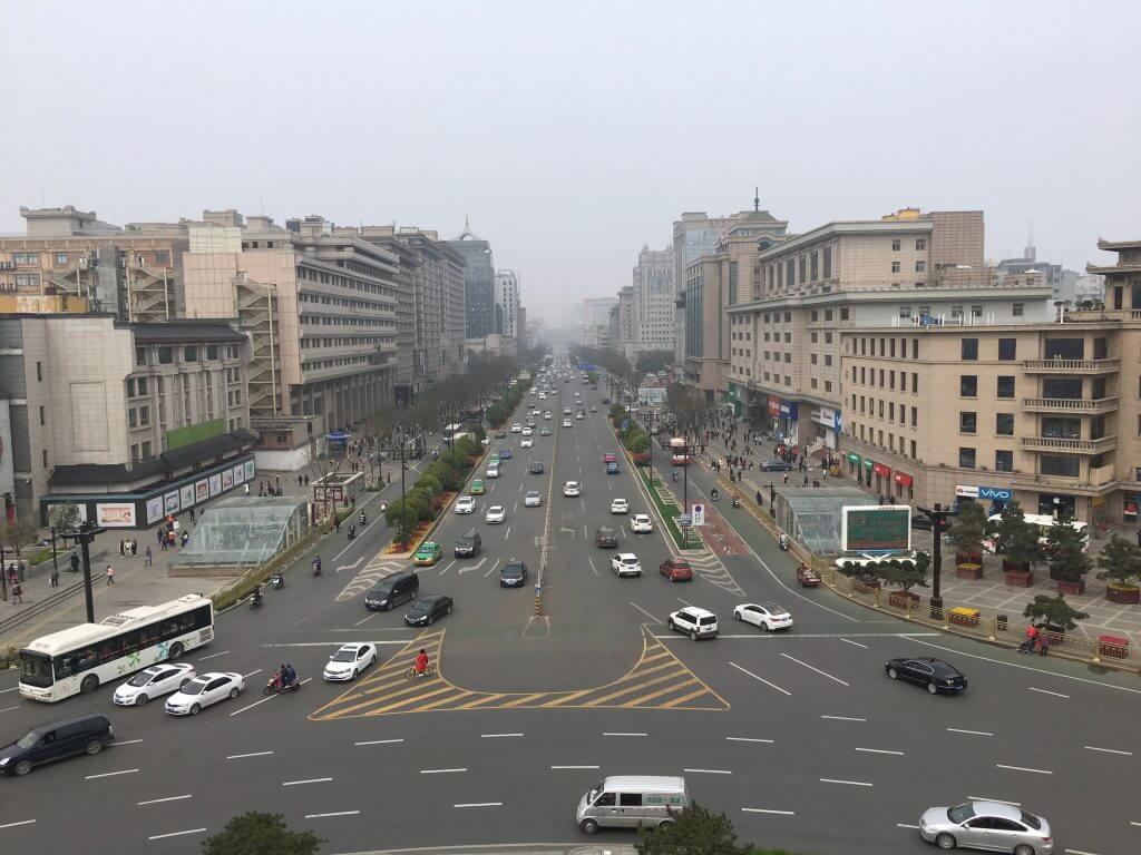 Reisetipp Xi'an: Blick vom Bell Tower