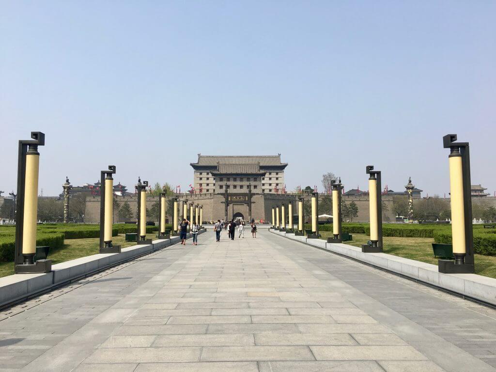 Reisetipp Xi'an: Blick auf die Stadtmauer von Süden