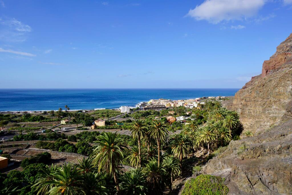 Eine Woche La Gomera: Blick von La Calera auf den Ortsteil La Playa
