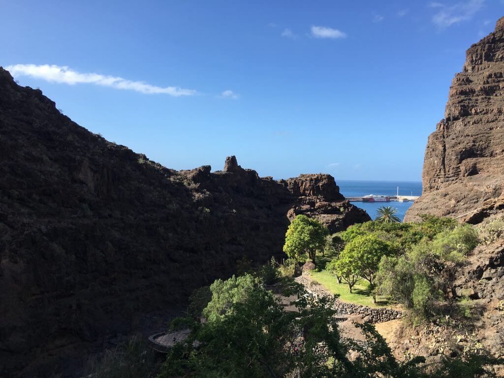 Eine Woche La Gomera: Blick vom Garten auf Valle Gran Rey