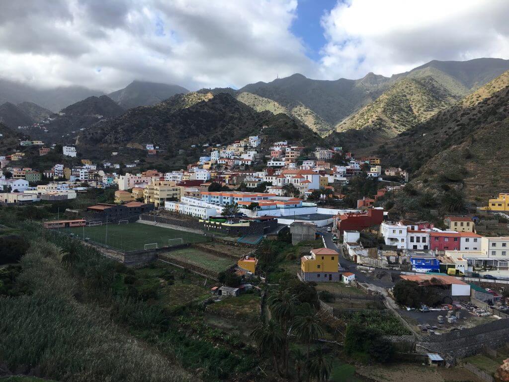 Hiking auf den Kanaren: Blick über Vallehermoso