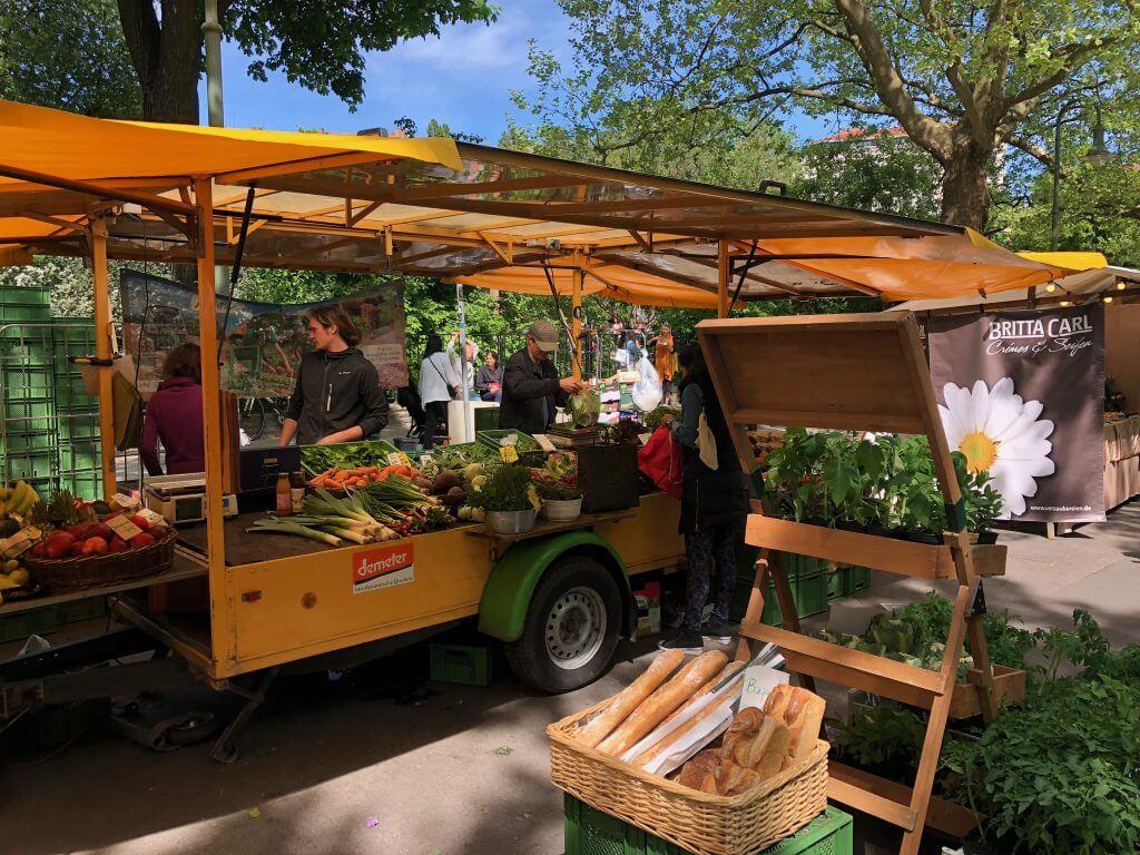 Sightseeing Tipps Prenzlauer Berg: Biomarkt am Kollwitzplatz