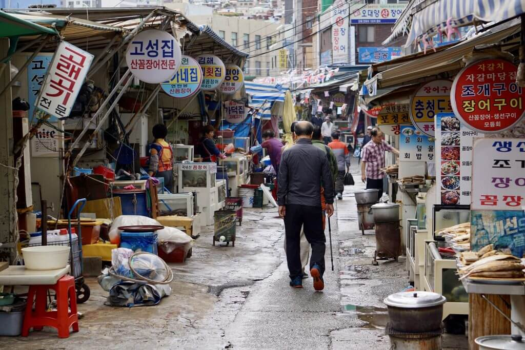 Fakten über Südkorea: Markt in Busan