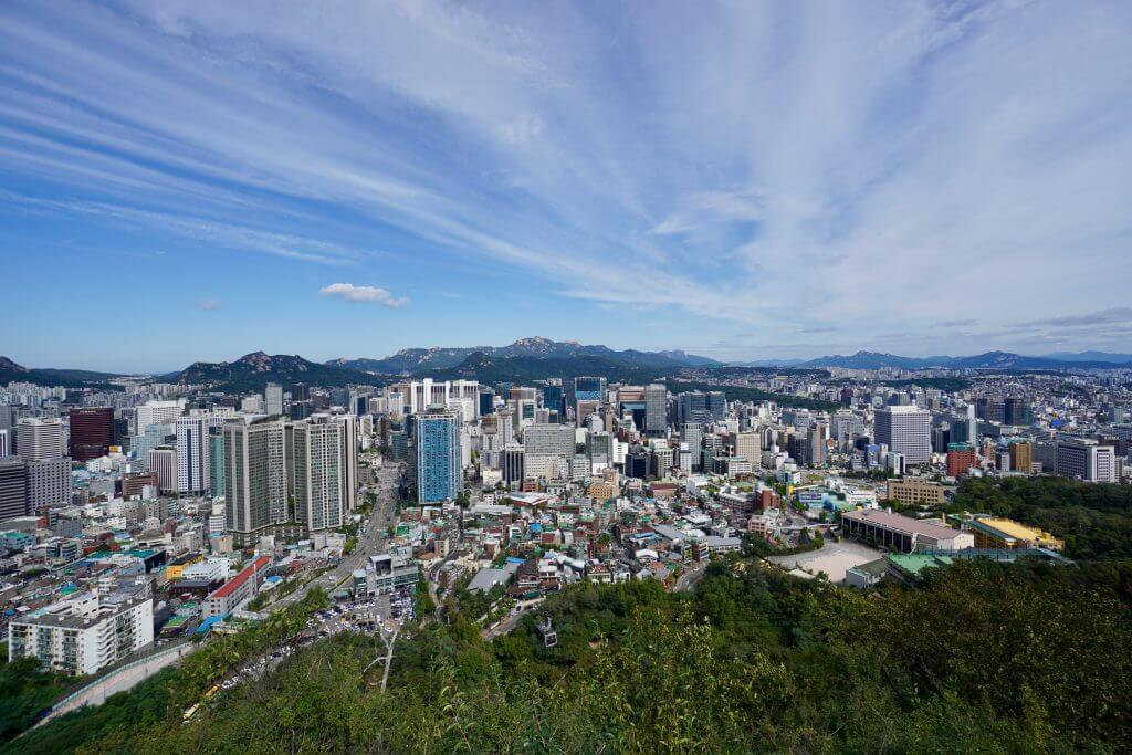 Der Blick vom Seoul Tower (Seoul, Südkorea)