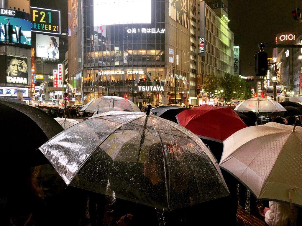 Regenschirme in Tokio