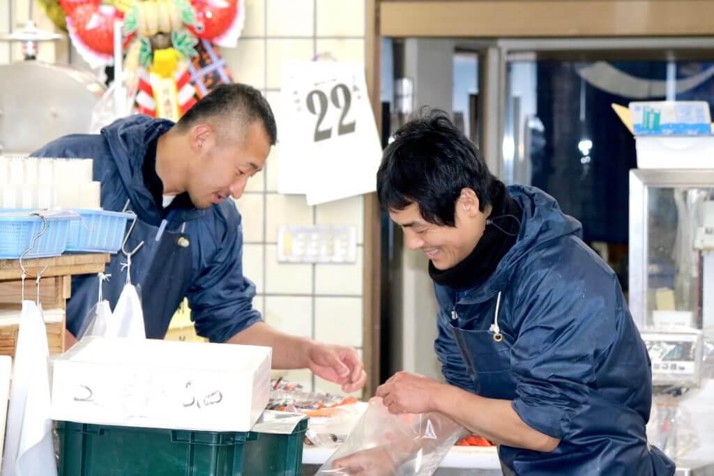Arbeiter im Nishiki Market Kyoto