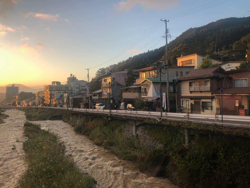 Sonnenuntergang in Yudanaka
