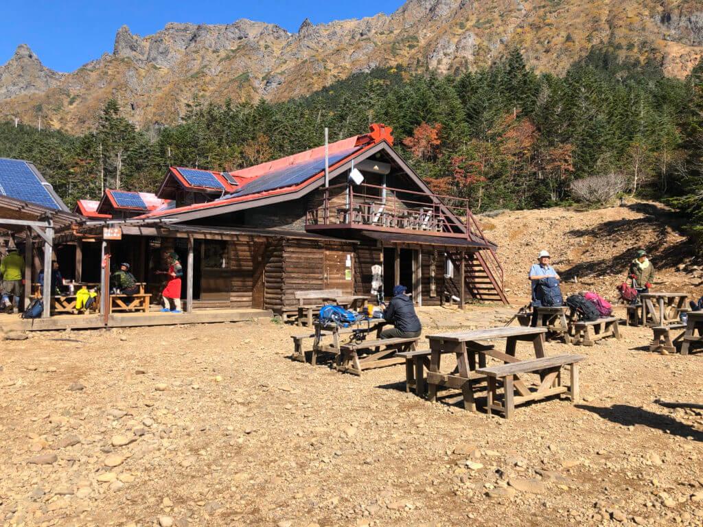 Lunch auf der Gyoja Hut