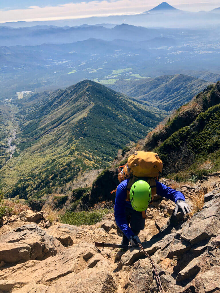 Steiler Anstieg zum Mt. Akadake