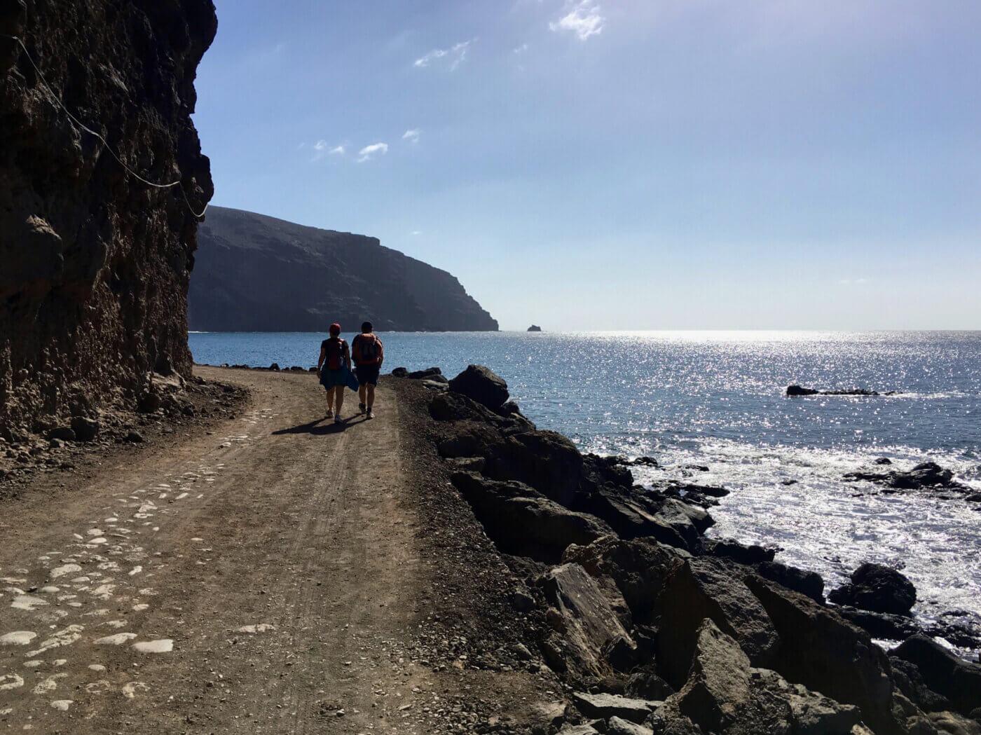 Hiking an der Küste entlang auf La Gomera